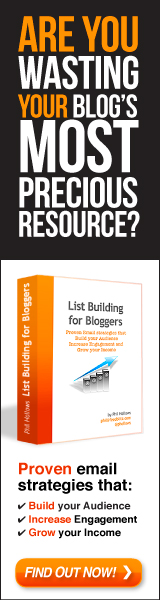 List Building for Bloggers 160x600 banner