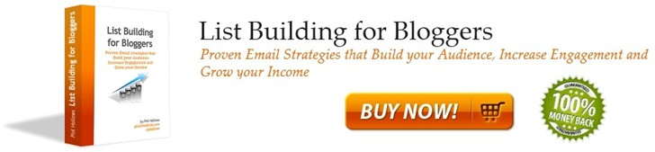 List Building for Bloggers: Proven email stategies that build your audience, increase engagement and grow your income. Launch pricing available thru May 23, 2011.