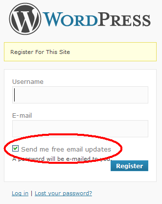 Wordpress Email Signup Plugin